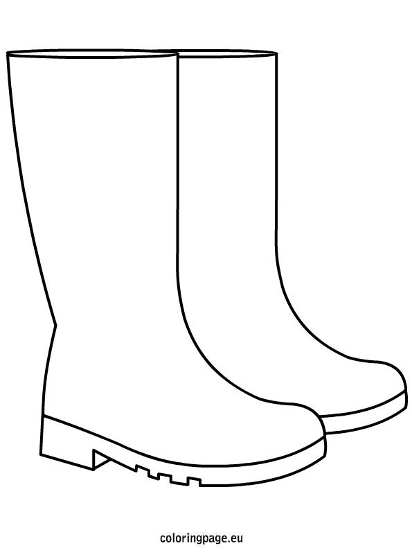 Autumn Rain Boots Coloring Page Clip Art Herfst Knutselen