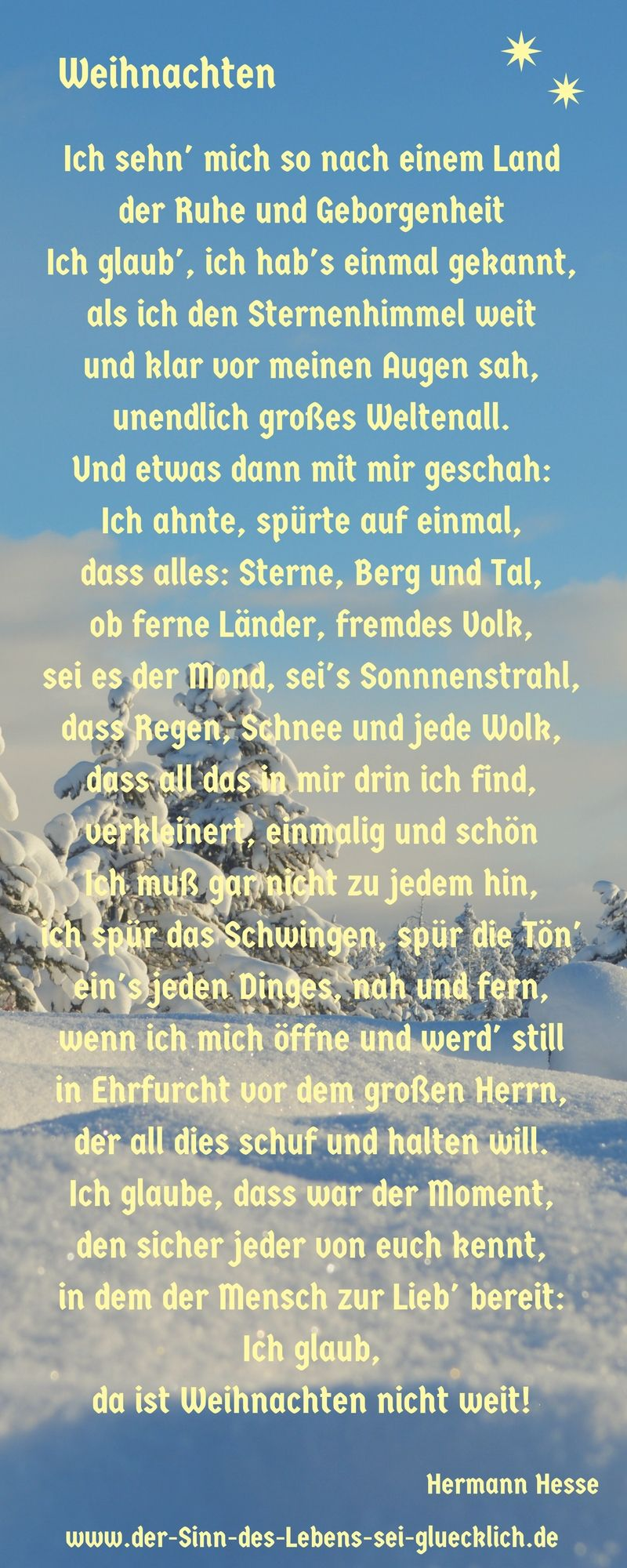 weihnachtsgedicht weihnachtsgedicht von hermann hesse. Black Bedroom Furniture Sets. Home Design Ideas