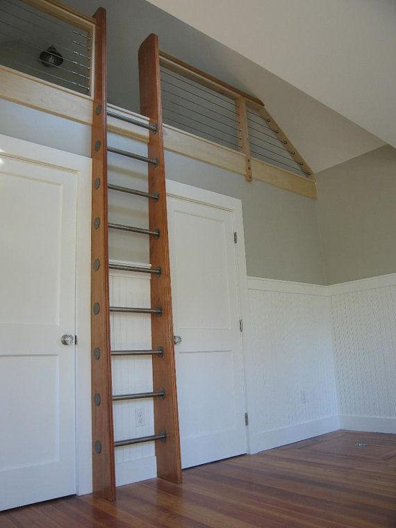 Custom Crafted Loft Ladder Library Ladder By Historicflooring 1200 00 Loft Ladder Loft Stairs Attic Loft