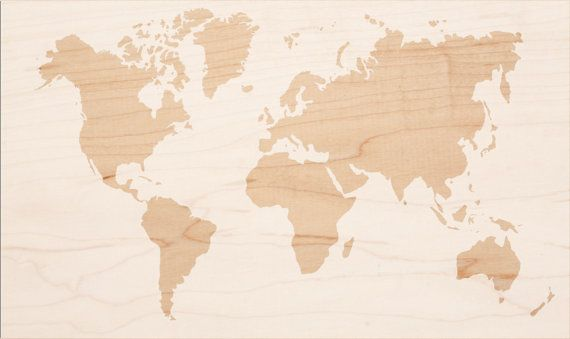 DIY World Map Stencil XL - plastic (not a sticker). for wood ...