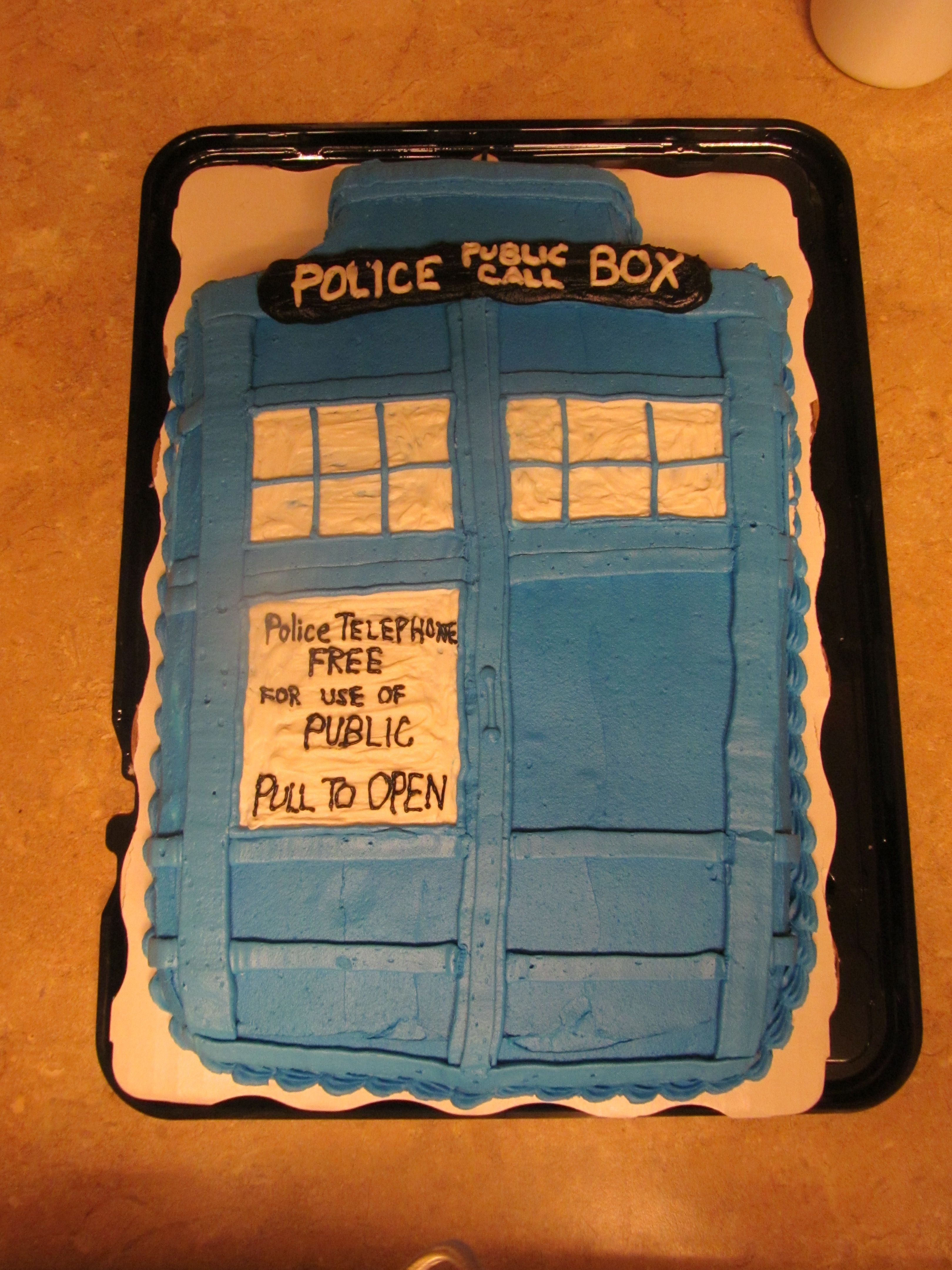The Dr. Who cake we decided on!  Becky Miller did an amazing job!!