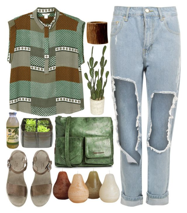 """""""Sugared Green Tea"""" by ladyvalkyrie ❤ liked on Polyvore featuring WearAll, Monki, Matt & Nat, Bloomingville and Simon Pearce"""