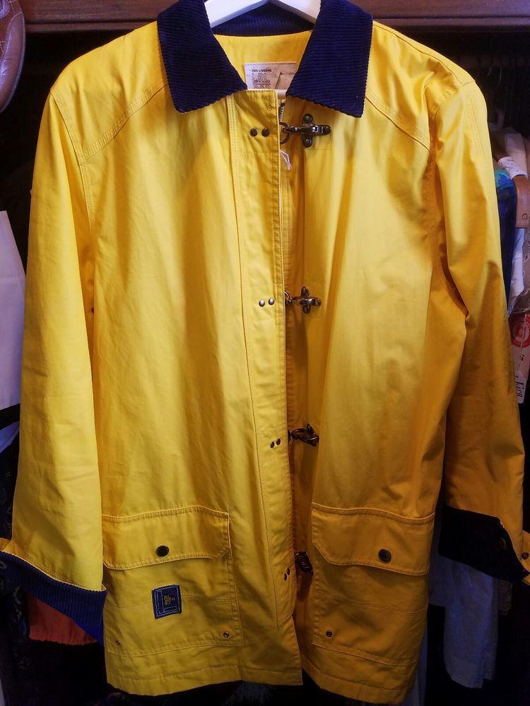 Usrl Marine Women's Ralph Polo 067 Raincoat Clasps Yellow Lauren Lrl Y6gbf7Ivmy