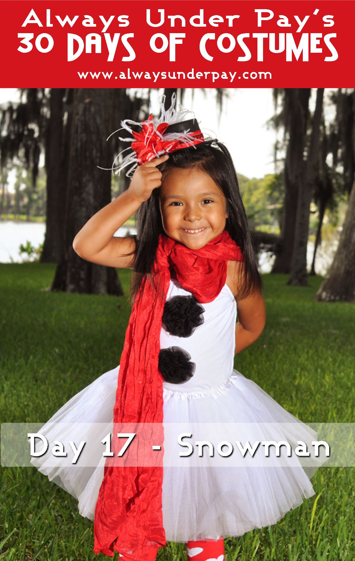 Day 17 Snowman DIY Halloween Costume Tutorial Cheap Easy