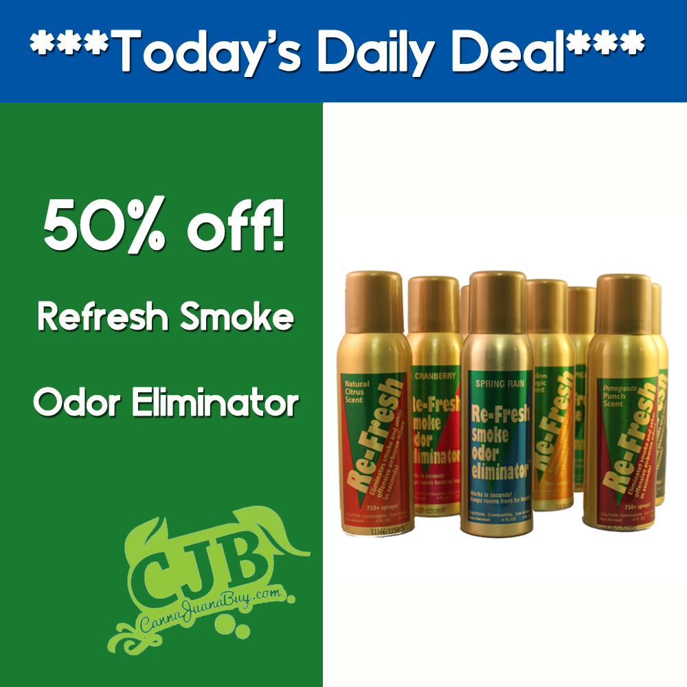 Keep The Smokey Smell Out Of The House With Refresh Smoke Odor Eliminator This Spray Will Mask Any Smell Mmj Marijuana Smoke Ca Daily Deals