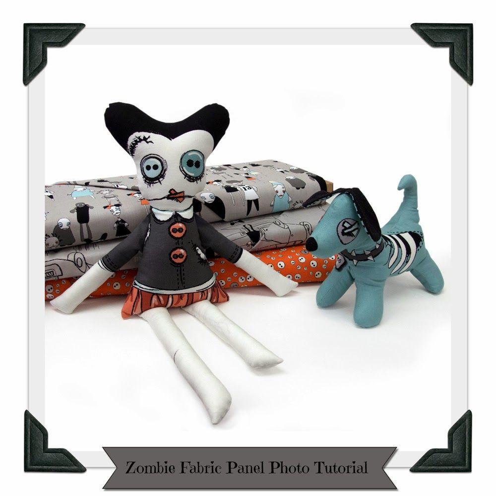 Voodoo Rabbit Fabric: Photo Tutorial - Zombie Apocalypse Panel Soft Toy #iloverileyblake