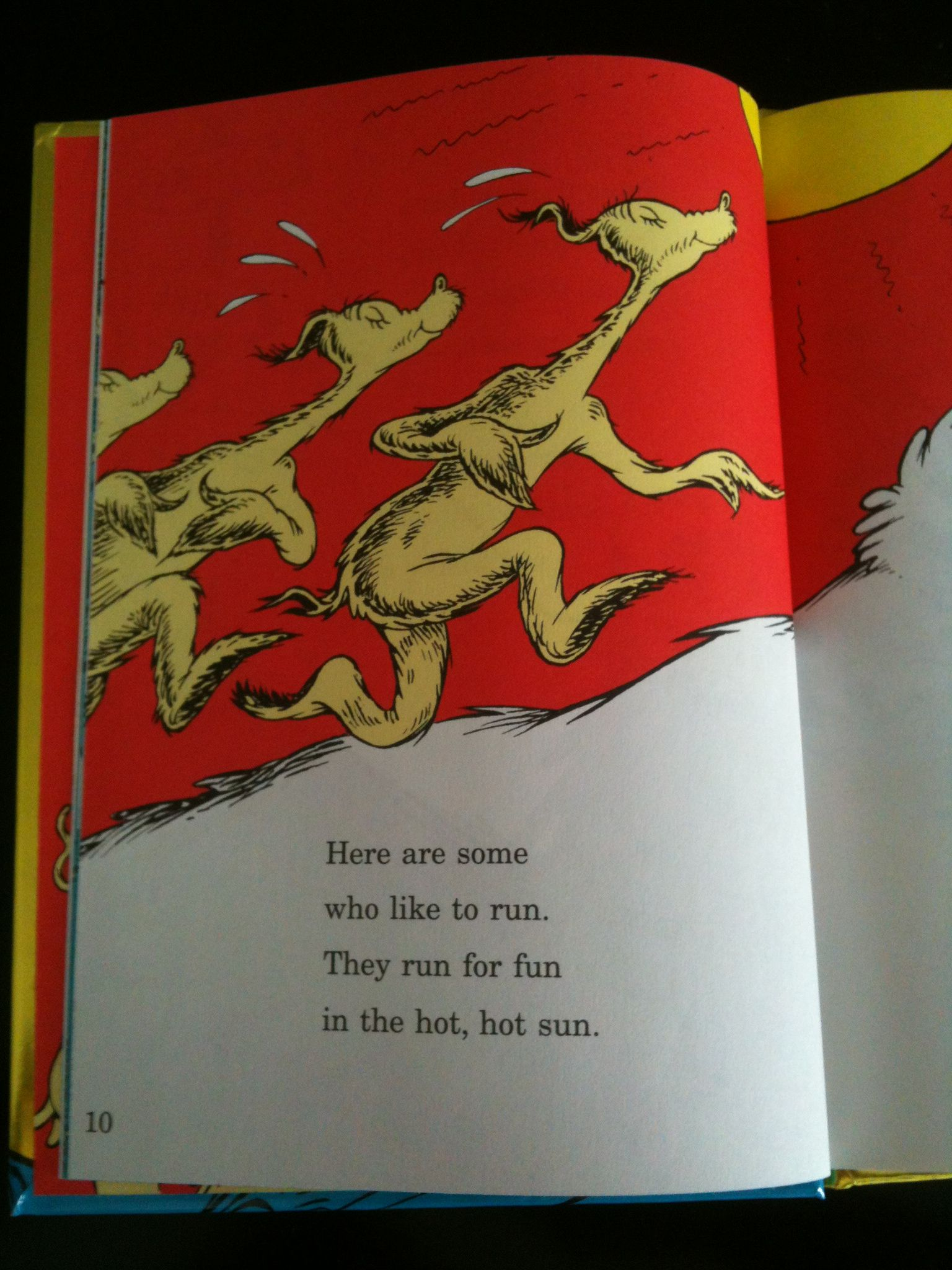 Dr seuss on running here are some who like to run they