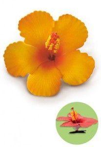 Hawaiian Hair Clip Foam Flower Hibiscus Orange