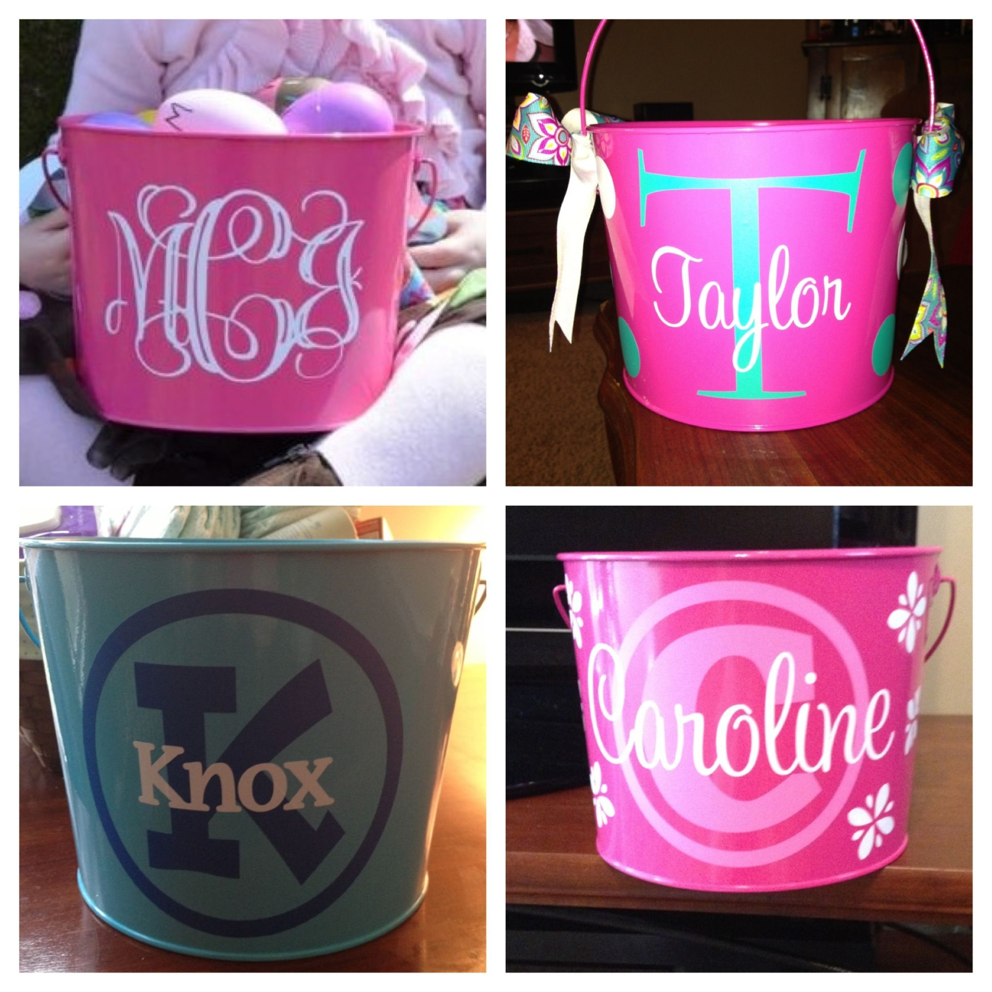 Easter Pails Vinyl From Expressions Vinyl And Cut With A - Vinyl decals at hobby lobby