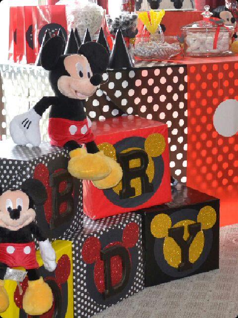 Mickey Mouse Birthday Party Building Blocks Diy Ideas In