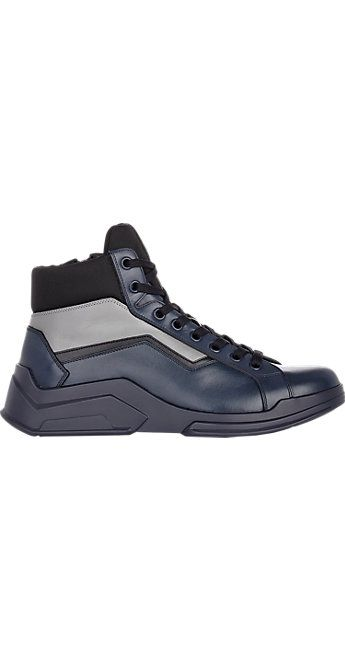 Prada Side-Zip Sneakers - Boots - Barneys.com   Shoesearch   Pinterest 9c862d42dd