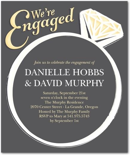 Big Bling - Studio Basics Engagement Party Invitations - Wedding - engagement party invites templates