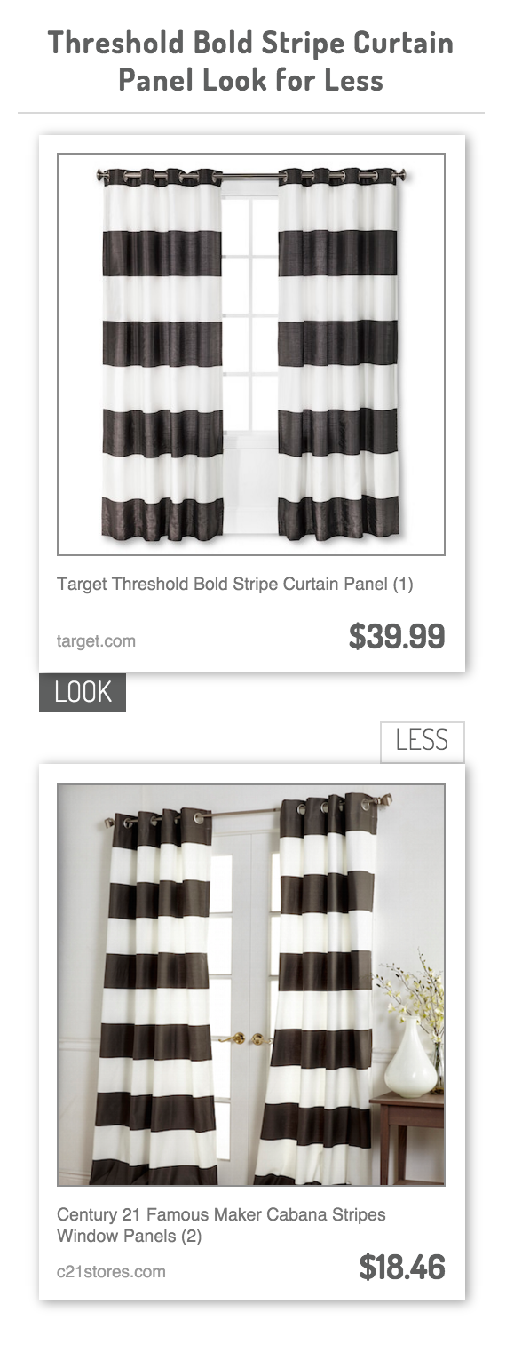 Threshold Bold Stripe Curtain Panel Look For Less Panel Curtains Striped Curtains Bold Stripes