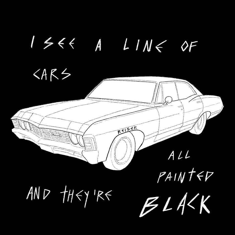 Paint it Black #drawing #paintitblack #illustration #chevy ...