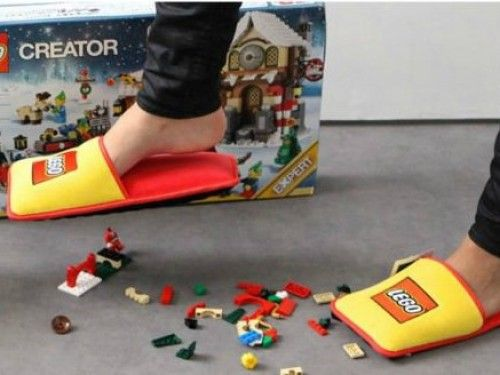 Lego's anti-Lego slippers are the invention we never knew we needed
