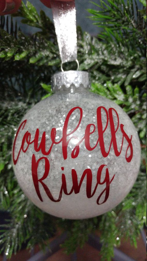 ... may not always see a White Christmas, but its always a good day to be a  Dawg! Keep your cowbell clangin all year round with this shatterproof  ornament. - Mississippi State