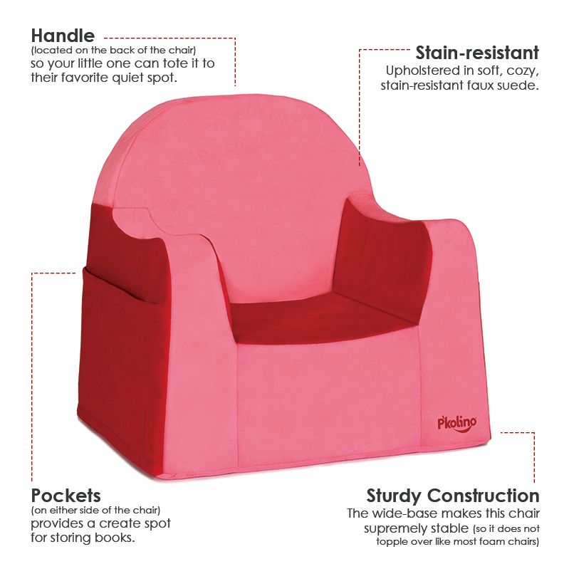 P'kolino Little Reader Toddler Chair with Red Cover. A ...