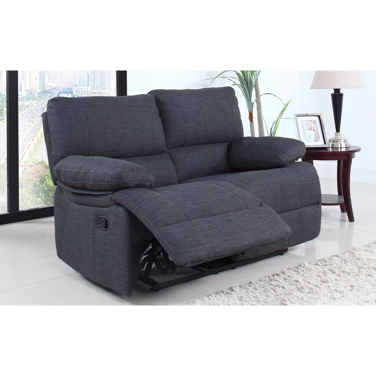 madison traditional dark oversize recliner loveseat