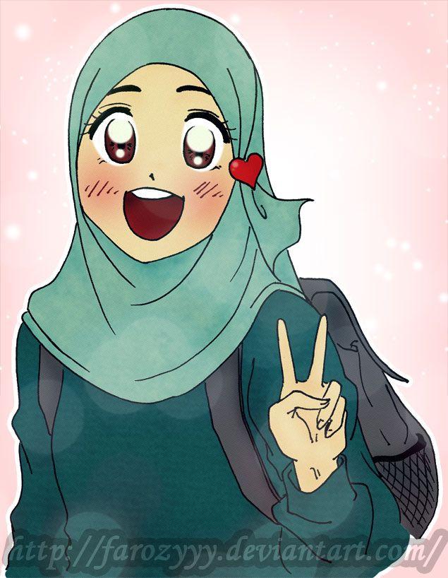 A Campus Day Animasi Gadis Kerudung