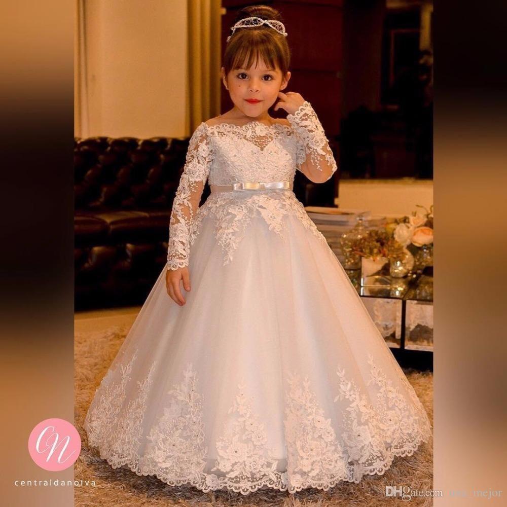 Barato Festa de casamento Da Princesa Vestido Da Menina