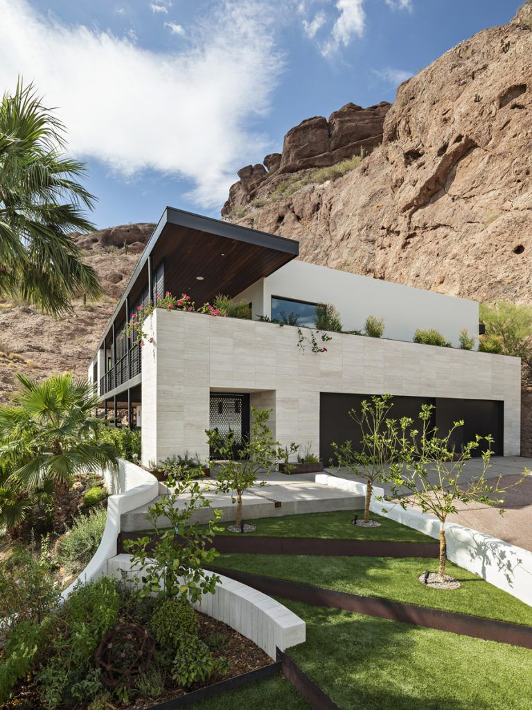 Red Rock Mountainside Home Maximizes Connection To The Natural Environment Idesignarch Interior Design Architecture Interior Decorating Emagazine Spanish Style Homes House On The Rock Architecture