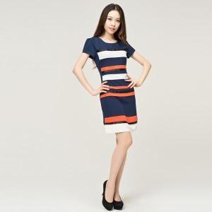 Slim Mixed Colors Dress - Fashion Destination Thisfind.com