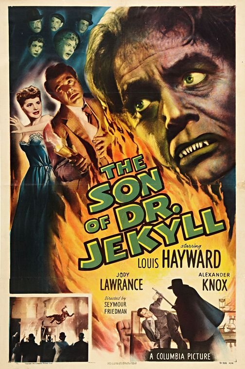 Son Of Dr Jekyll Vintage Horror Movie Poster Wall Art Museum Outlets Classic Horror Movies Posters Horror Movie Posters Movie Posters