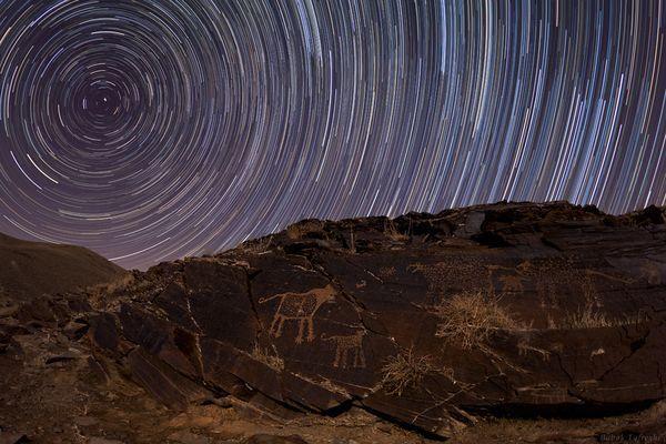 La curva del tempo. [National Geographic] Fotografia di Babak A. Tafreshi, TWAN.