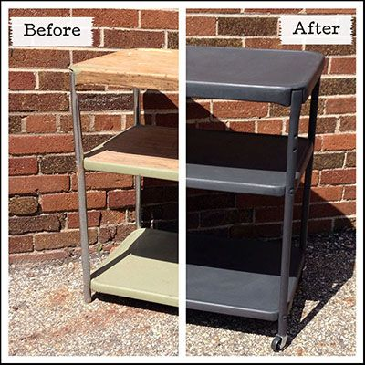Kitchen Graphitechalkpaint Beforeandafter 2 Chalk Paint Cabinet Before And  After