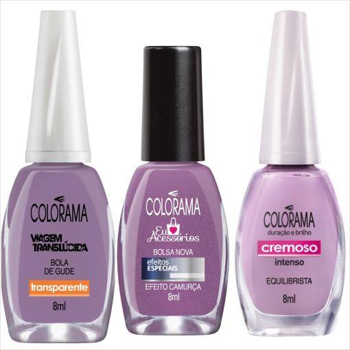 5cceec658 Esmaltes Colorama na cor lilás | DIY - Beauty 24 | Lilas cor, Unhas ...