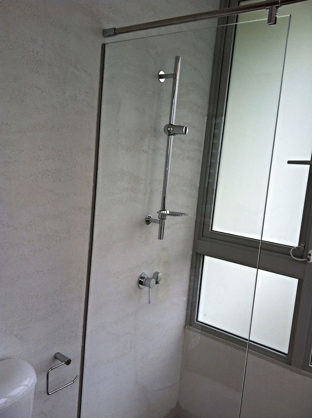 Shower Wall Special Textured Paint Travertino Romano Oikos By Italian Design Center Pte Ltd Singapore