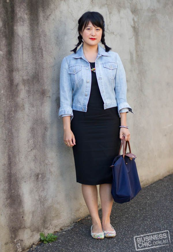 How To Wear A Black Dress And Denim Jacket Lbd Project Week 48