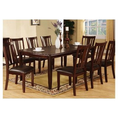 Iohomes Sturdy Wooden Dining Table Wood Espresso Dining Room