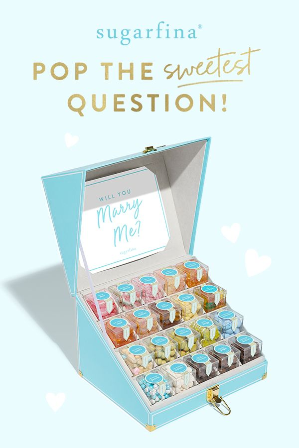 Will you marry me candy trunk wedding favors  ts by sugarfina also detoxify your house and save money while switching to natural