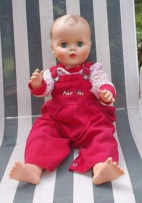 "Vintage Vinyl Baby Doll Head 3/"" with Neck"