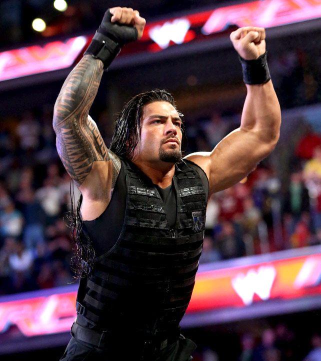 Raw 3/31/14 Roman Reigns vs Kane WWE APP Vote Match