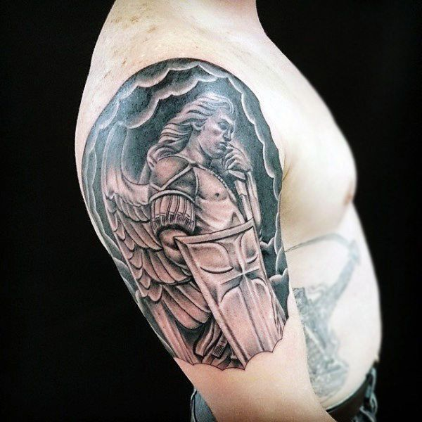 02eba19f3 100 Guardian Angel Tattoos For Men - Spiritual Ink Designs | Tattoo ...