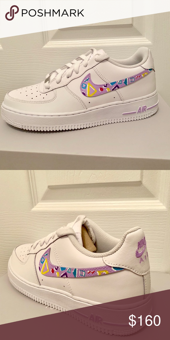 Custom painted Nike Air Force 1 Custom painted all white AF1