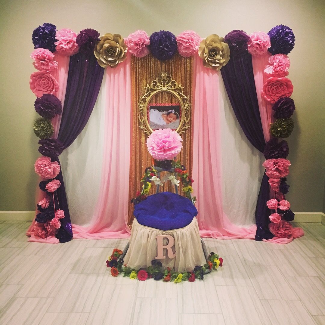 Cradle Ceremony Backdrop And