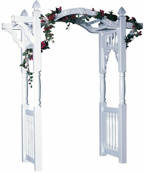 Amish Madison 7 Ft Vinyl Arch Arbor Park Rapids