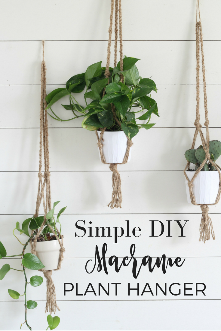 Simple Diy Macrame Plant Hanger With Video Tutorial Diy Plant Hanger Plant Hanger Diy Macrame Plant Hanger
