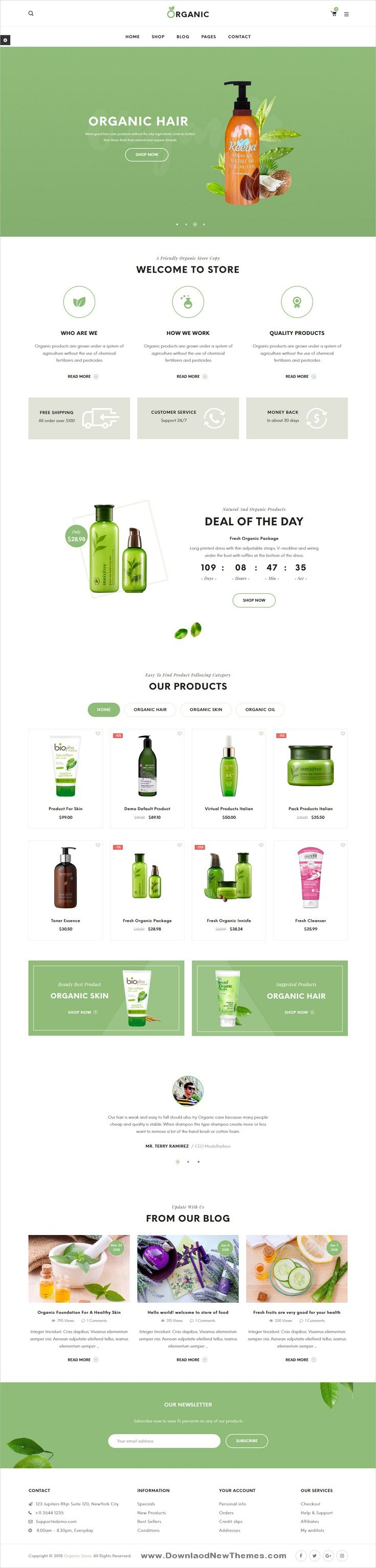 Organic is a clean elegant and modern design 3in1 responsive