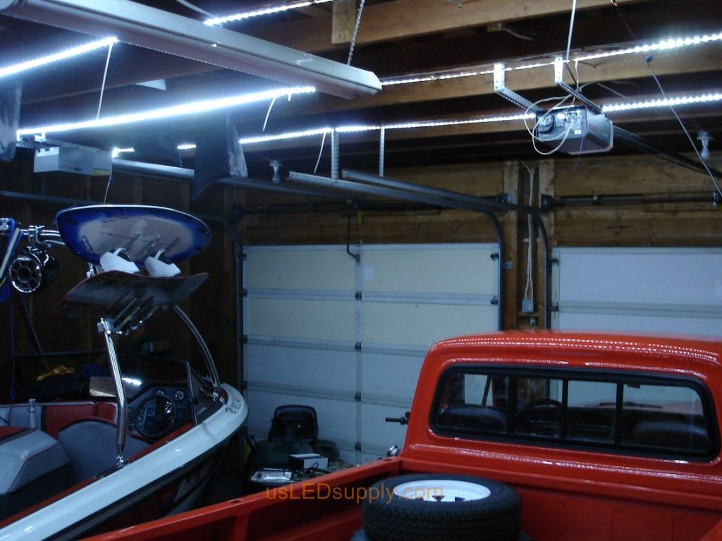 f00d156d1fec27a6a2c42ac9519687c3 garage where cool white flexible led strips were used to replace old