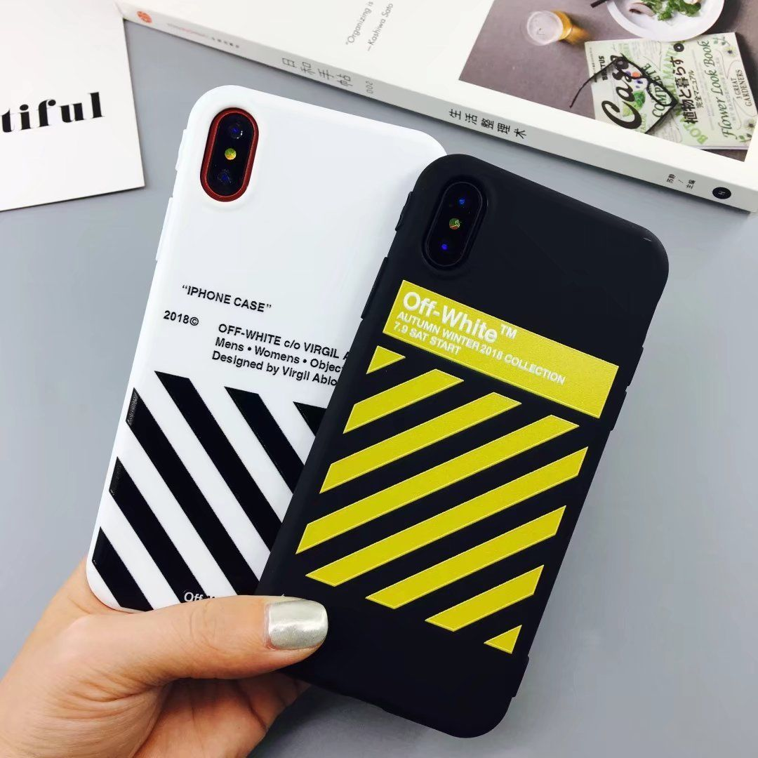 new style 7df8d 03022 $3.99 - Off White Soft Tpu Case For Iphone 6 6S 7 7P 8 Plus High ...