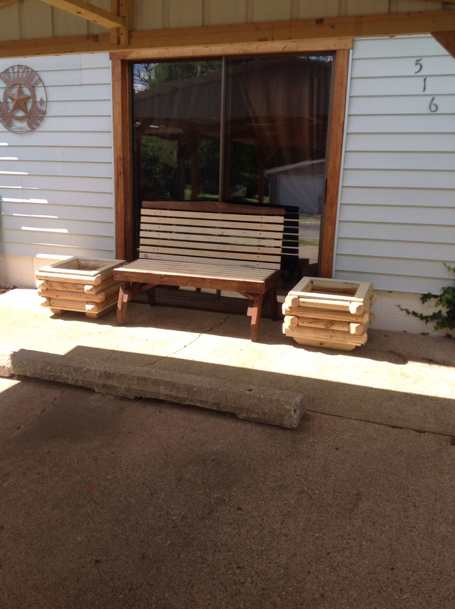 Bench U0026 Planters We Have Made For Our Town In Waveland, In. Made By