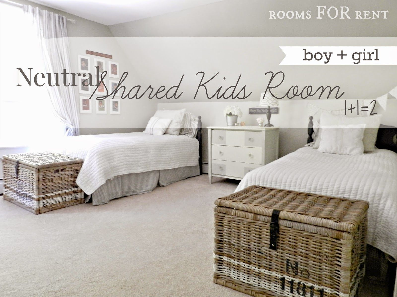 e see how Bre created a neutral shared kids room for her son and