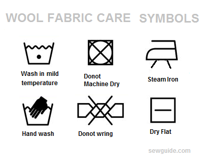 40 Fabric Care Labels Laundry Washing Symbols With Their