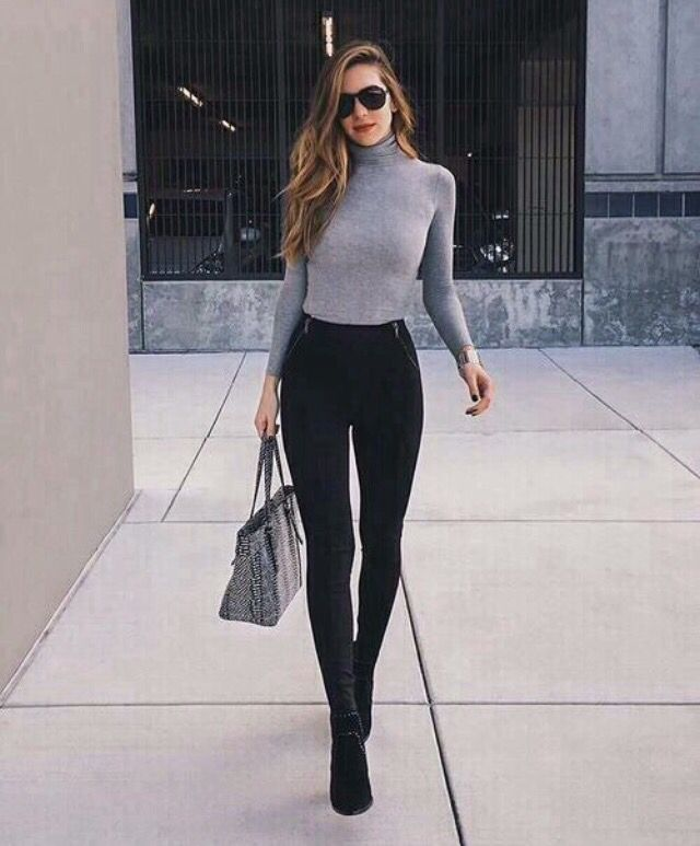 Black Boots Dress Outfit
