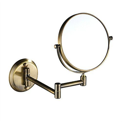 8 Inch Antique Dual Sided Wall Mount Makeup Mirror with 7x Magnification Antique Brass Finish 1306 7X For product & price info go to s b… Luxury - Style Of magnifying makeup mirror Amazing