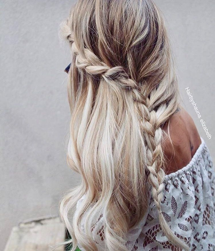 Waterfall braid Book Coiffure Cheveux coiffure
